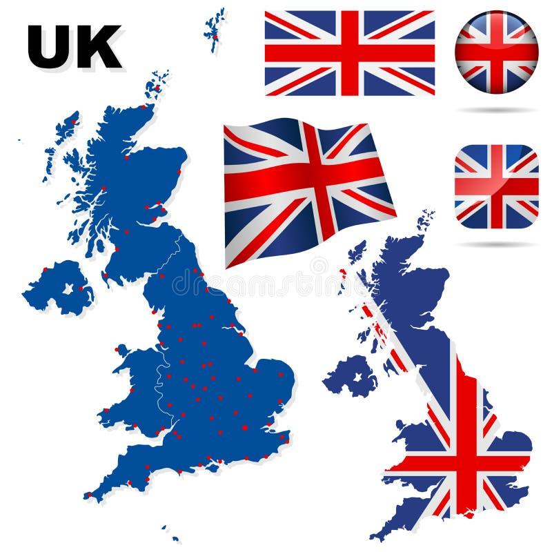 Conjunto del vector de Reino Unido. ilustración del vector