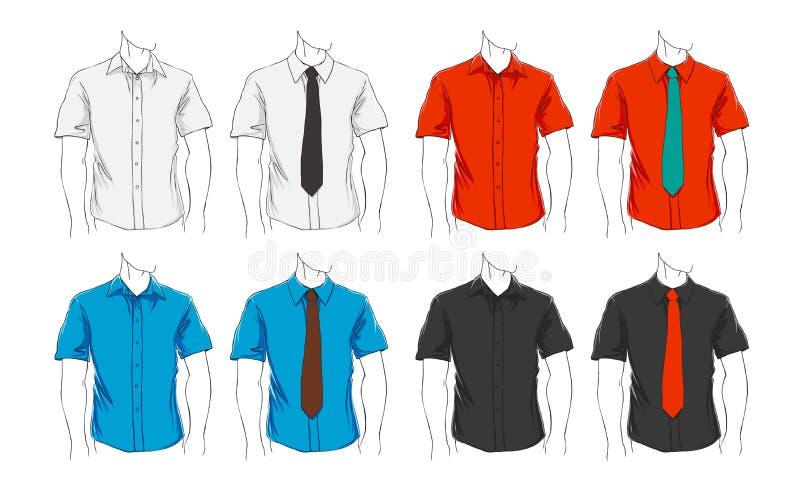 Conjunto del vector de ropa stock de ilustración