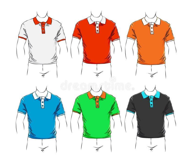 Conjunto del vector de ropa ilustración del vector