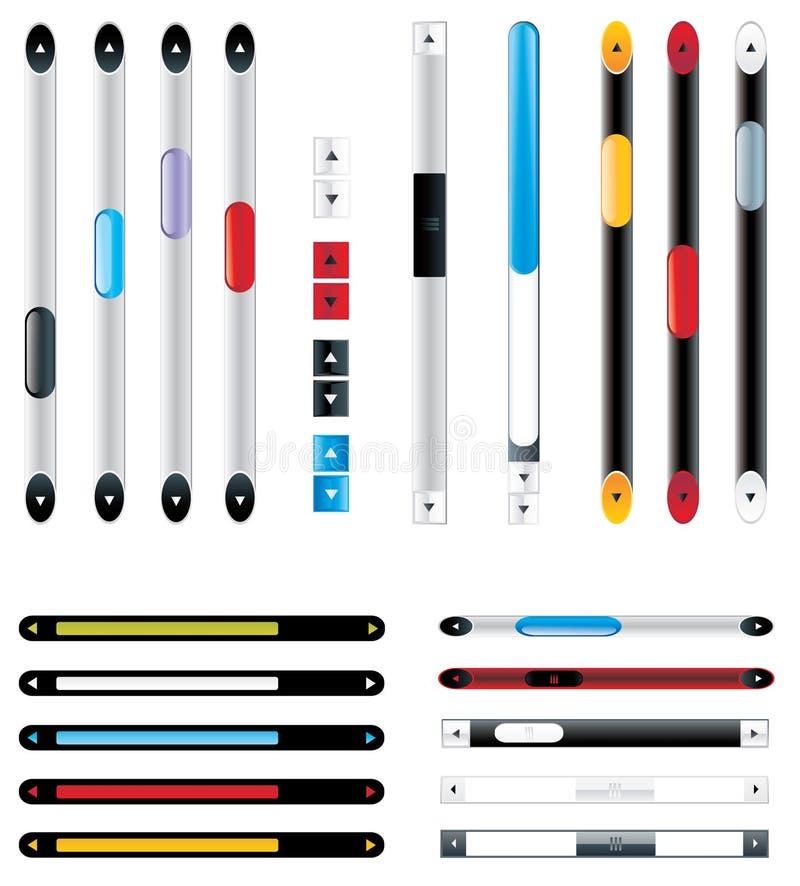 Conjunto del vector de scroller para el interfaz del Web libre illustration
