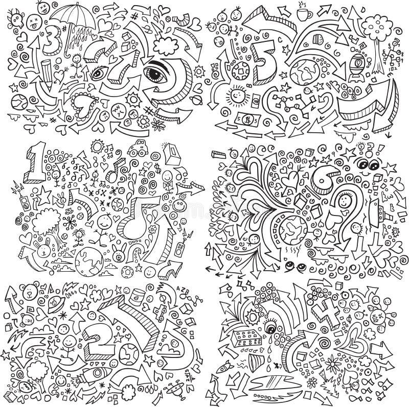 Conjunto del vector del bosquejo del Doodle libre illustration