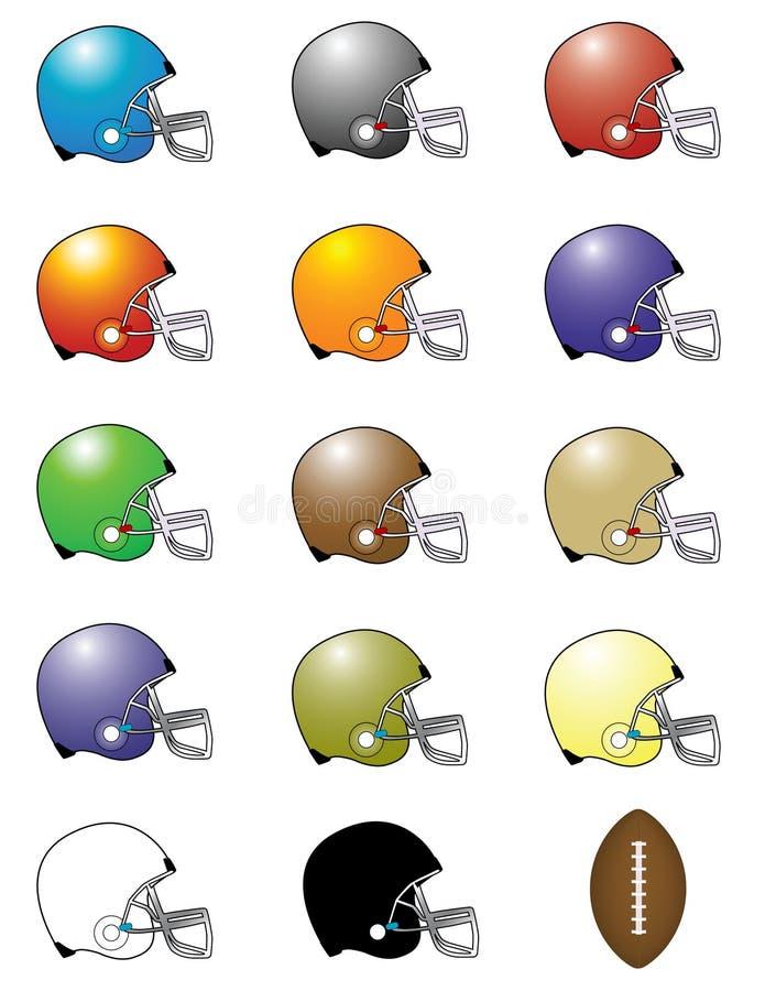 Conjunto del vector eps8 de los cascos de balompié?/de arte de clip ilustración del vector