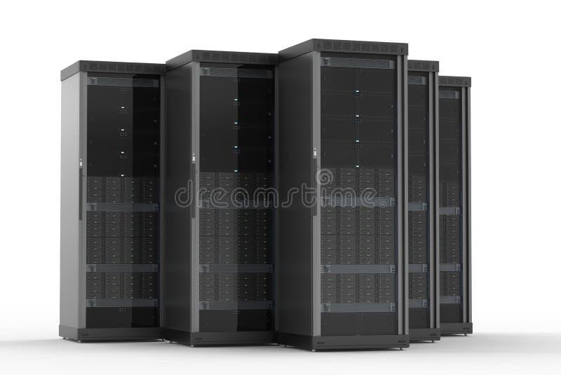 Conjunto do computador de servidor foto de stock royalty free