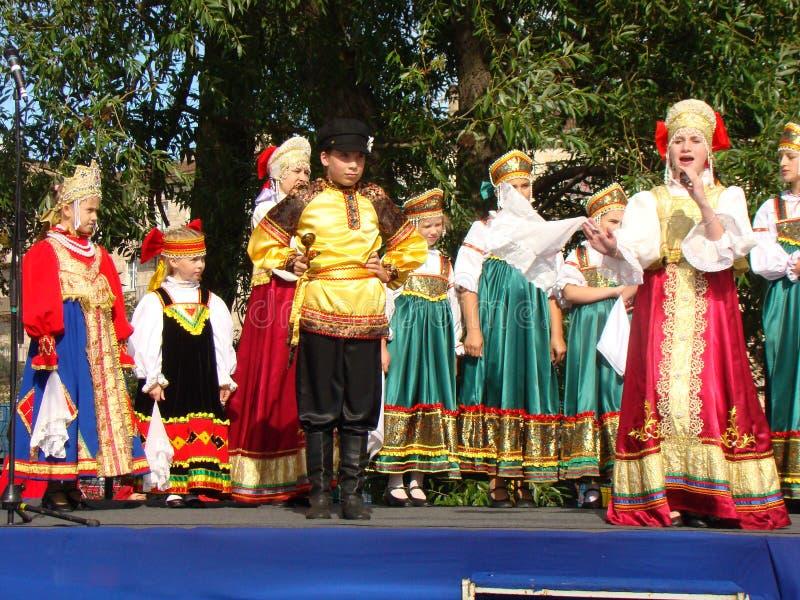Conjunto do folclore de canção do nacional do russo fotografia de stock royalty free