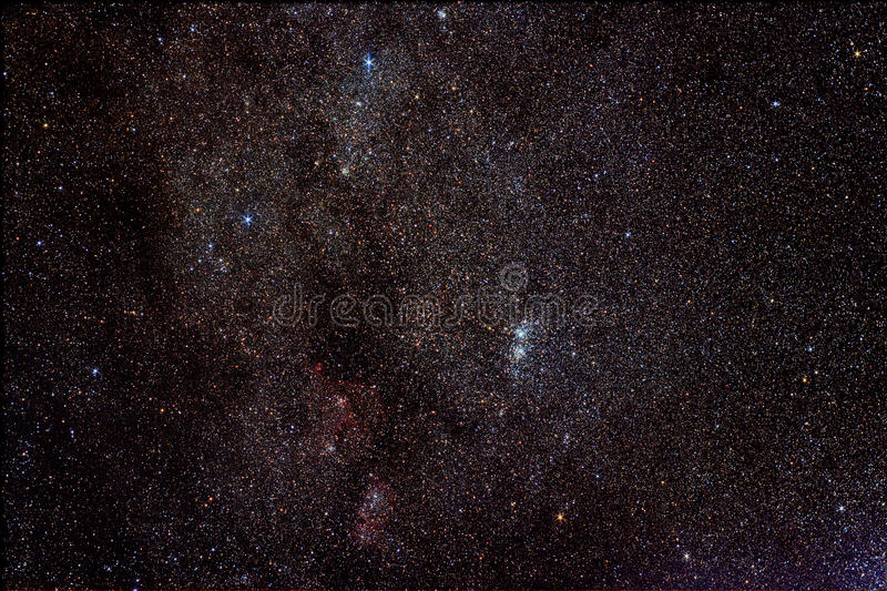 Conjunto do Qui-h na constelação de Perseus fotos de stock