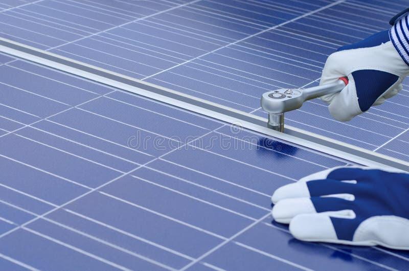 Conjunto dos painéis solares imagem de stock royalty free