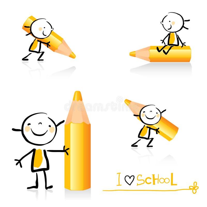 Conjunto educativo del icono ilustración del vector