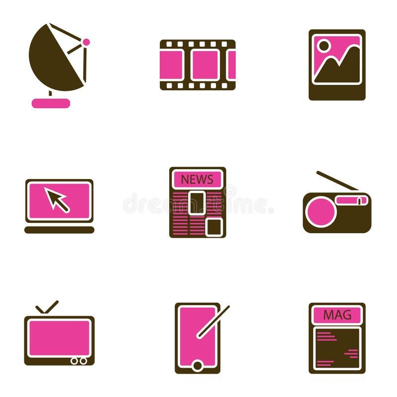 Conjunto electrónico del icono del objeto libre illustration