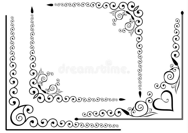 Conjunto elegante del marco stock de ilustración