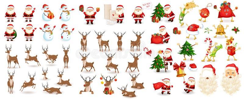 Conjunto grande de la Navidad foto de archivo libre de regalías
