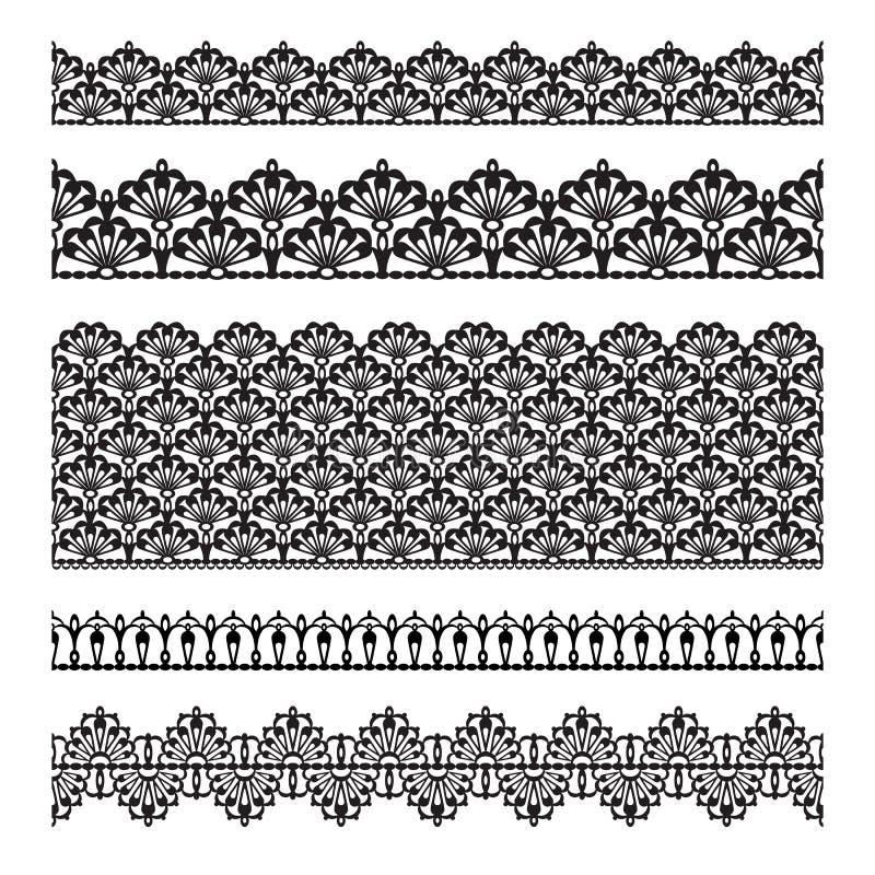 Conjunto inconsútil del cordón stock de ilustración