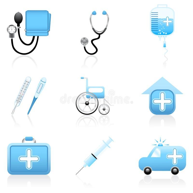 Conjunto médico del icono libre illustration