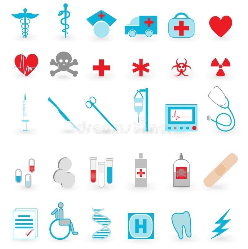 Conjunto médico del vector del icono stock de ilustración