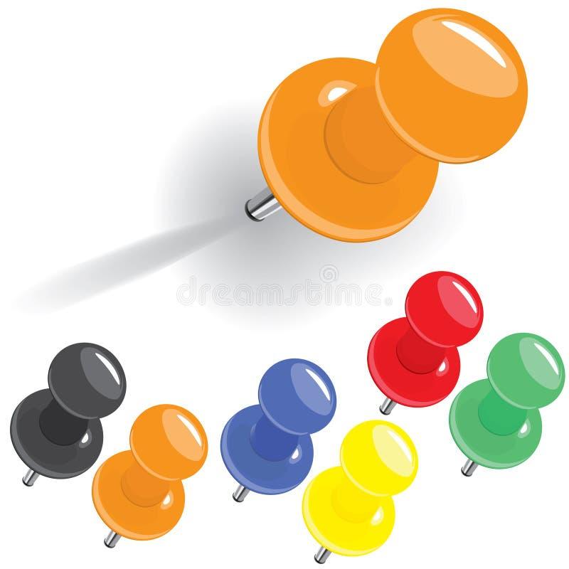 Conjunto multicolor arriba detallado del contacto stock de ilustración
