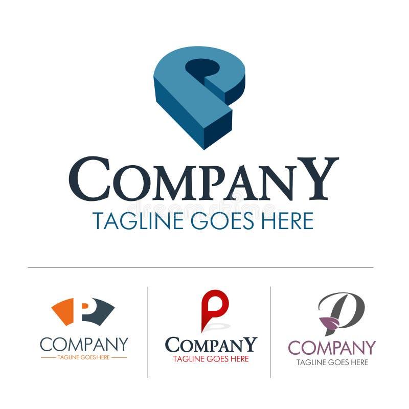 Download Conjunto P De La Letra Del Logotipo Ilustración del Vector - Ilustración de compañía, intervención: 42429875