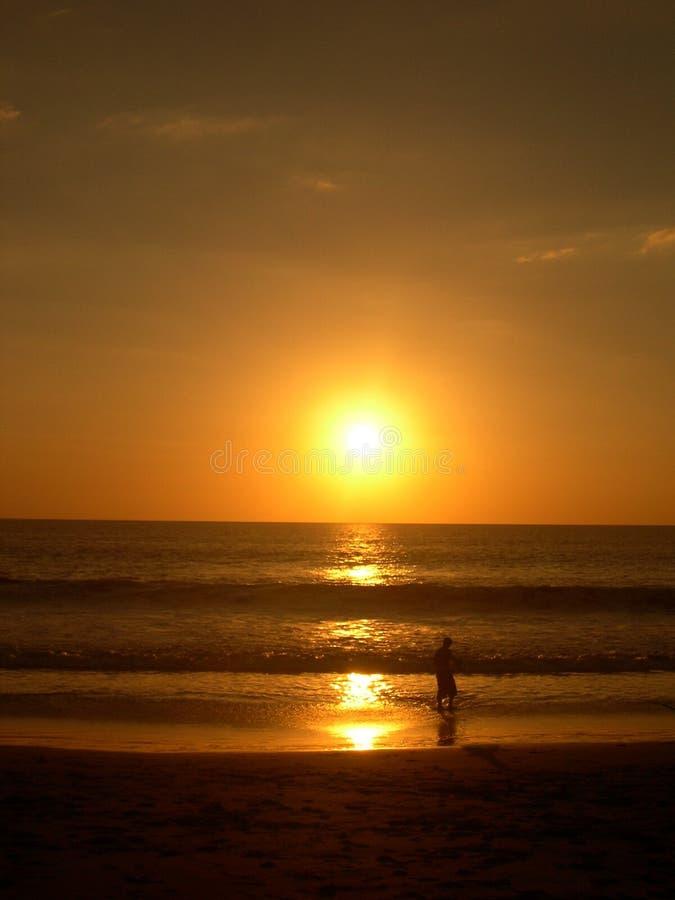 Conjunto pacífico de Sun fotografía de archivo