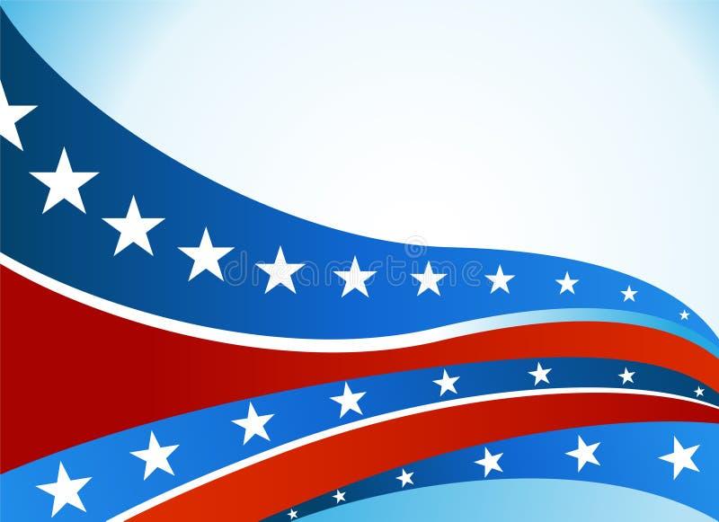 Conjunto patriótico de la onda stock de ilustración