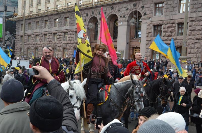 Conjunto popular na capital ucraniana imagens de stock