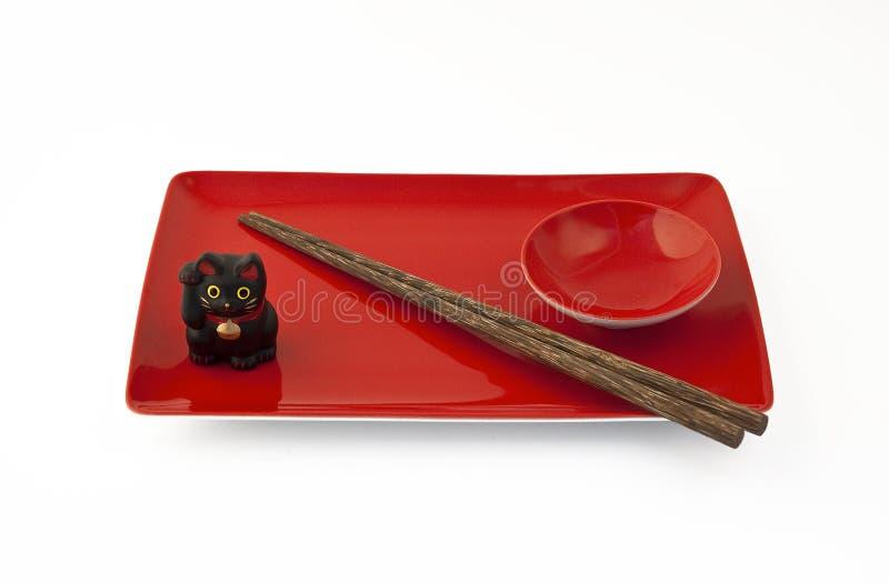 Conjunto rojo del sushi imagen de archivo libre de regalías