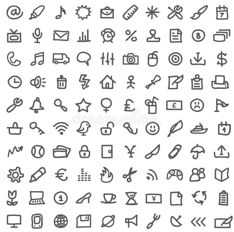 Conjunto simple del icono stock de ilustración