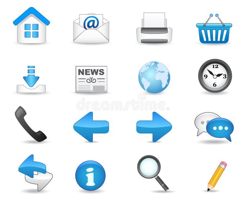 Conjunto universal del icono stock de ilustración