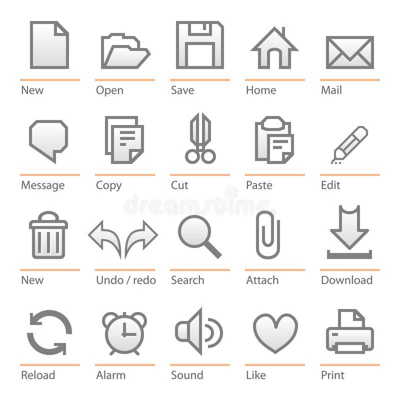 Conjunto universal del icono del software. Talla grande libre illustration