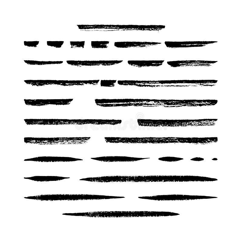 Conjunto vectorial de 30 brochas de arte de los marcadores secos ilustración del vector