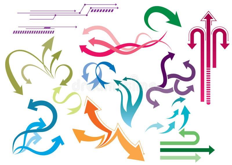 Conjuntos de la flecha stock de ilustración