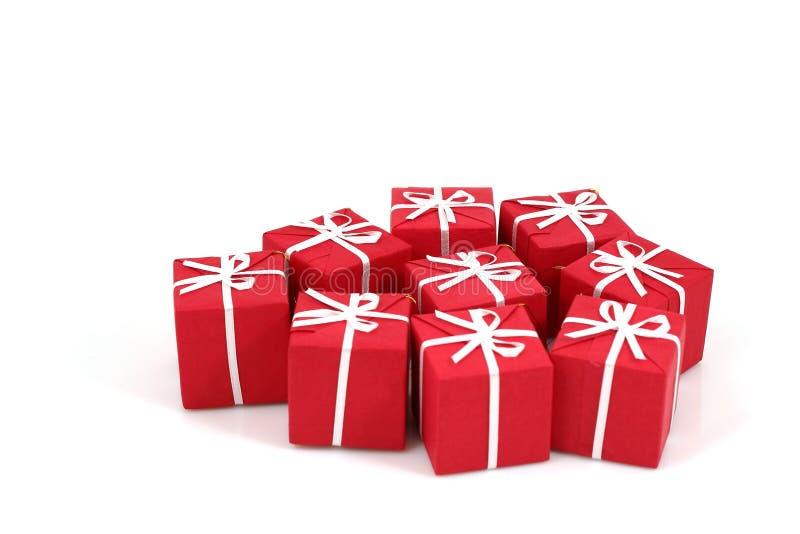 Conjuntos de los regalos de la Navidad imagen de archivo