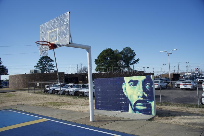 Conley Memphis Grizzlies Community Court stock fotografie