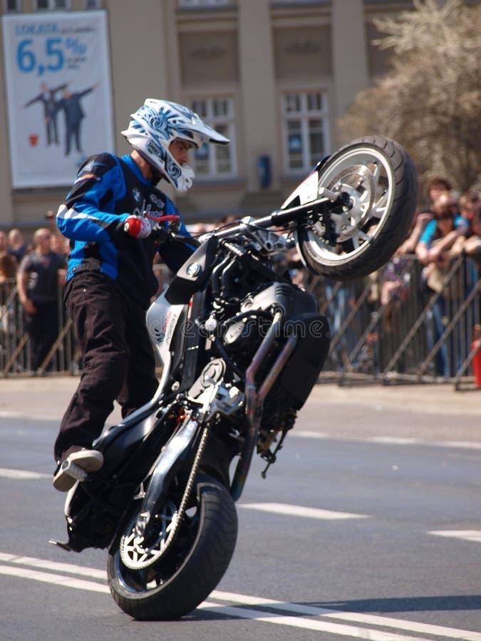 Conluios da motocicleta, Lublin, Poland fotografia de stock