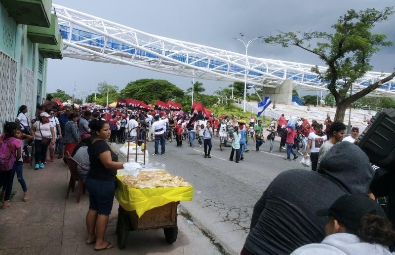 Conmemoración de la revolución popular de Sandinista imagen de archivo