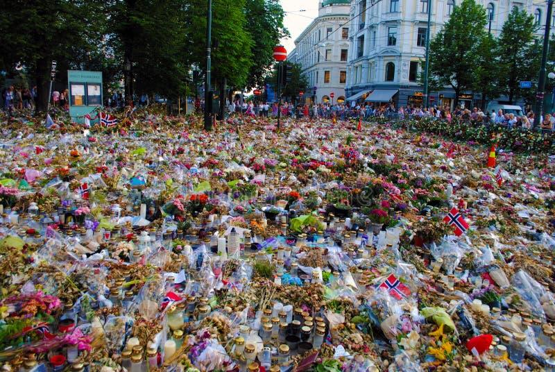 Conmemoración de las víctimas del terror en Oslo fotografía de archivo