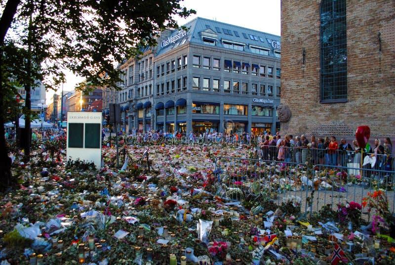 Conmemoración de las víctimas del terror en Oslo fotos de archivo libres de regalías