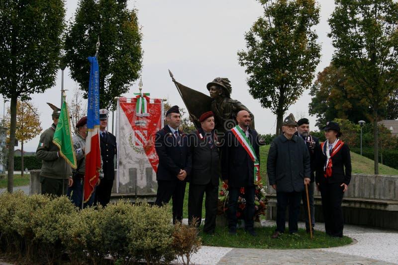 Conmemoración del 4 de noviembre de 2018 - término la 1ra guerra mundial foto de archivo libre de regalías