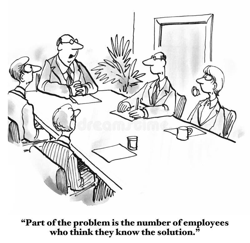 Connaissez-le tous les employés illustration libre de droits