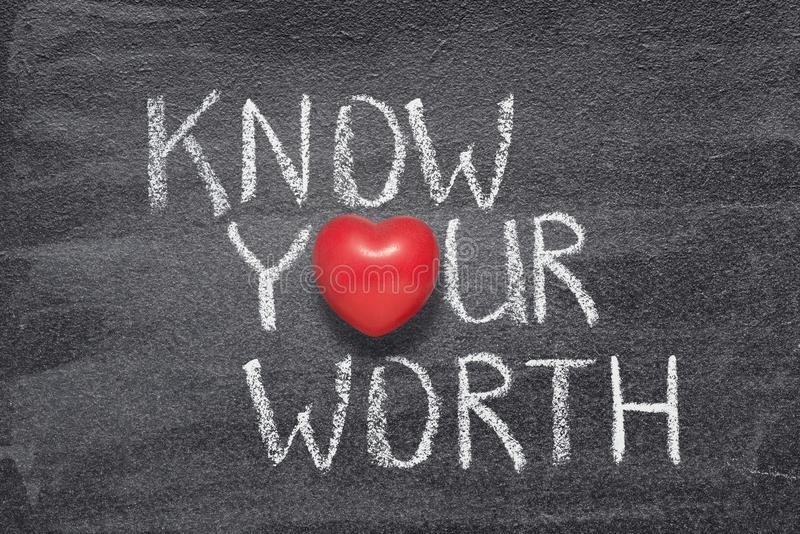 Connaissez votre coeur de valeur image stock