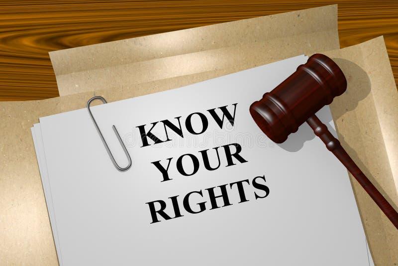 Connaissez votre concept de droites image libre de droits