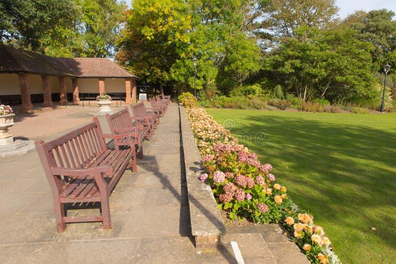 Connaught arbeta i trädgården Sidmouth Devon England UK royaltyfria bilder
