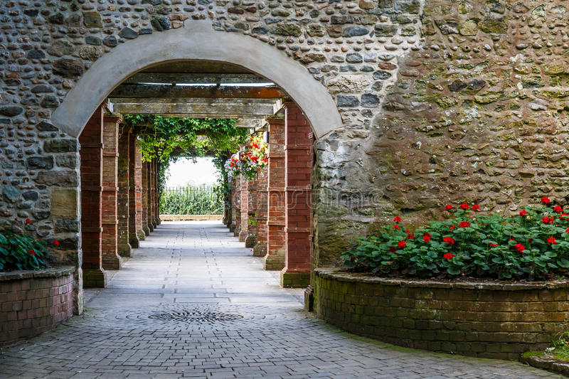 Connaught gardens in summer. Travelling at Jurassic coast seaside (Devon), UK stock image