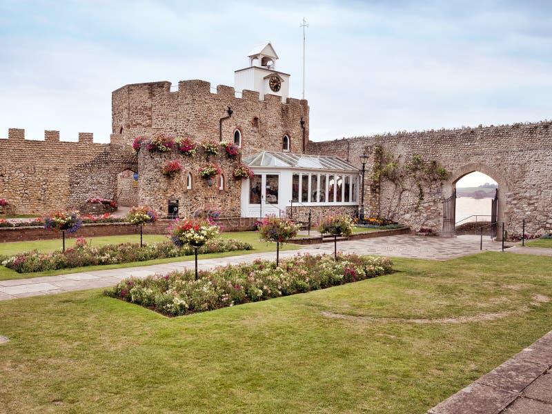 Connaught offentliga trädgårdar, Sidmouth, Devon, UK royaltyfria bilder