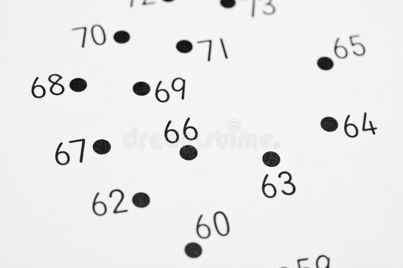 Connect the dots. Closeup of section of a connect the dots image stock photos