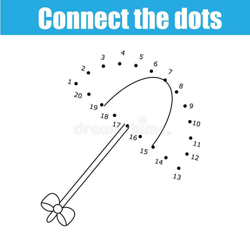 Connect The Dots By Numbers Children Educational Game. Printable Worksheet  Activity. Umbrella Stock Vector - Illustration Of Page, Draw: 109727162