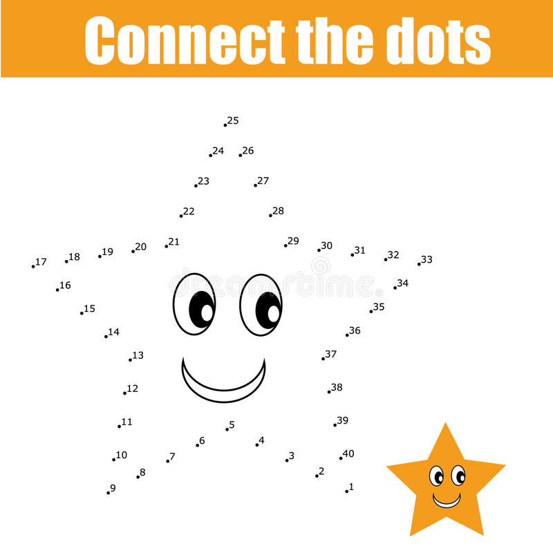 Connect The Dots Children Game Stock Vector Illustration of