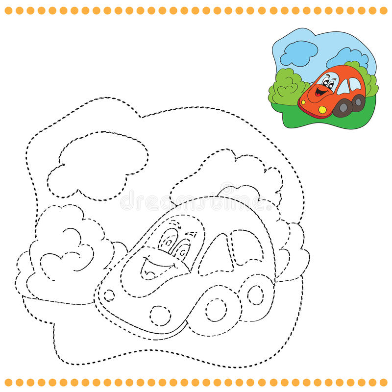 Connect the dots and coloring page royalty free illustration
