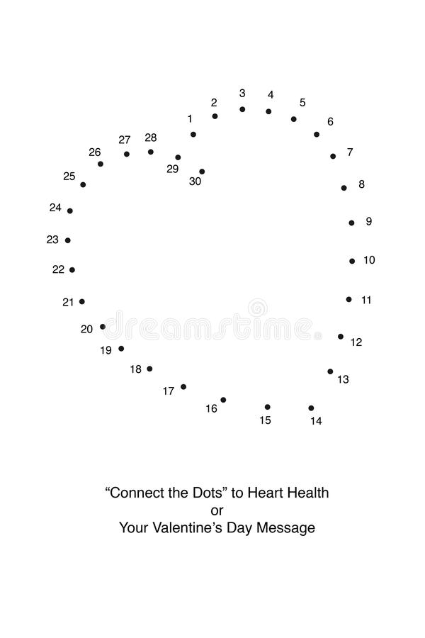 Download Connect The Dots To A Heart Stock Image - Image: 21734075
