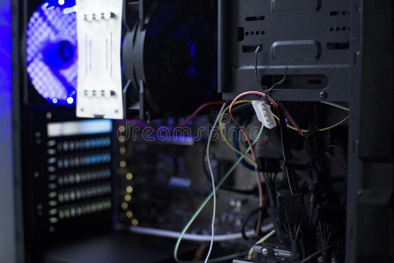 Connect the hard disk sata royalty free stock photo