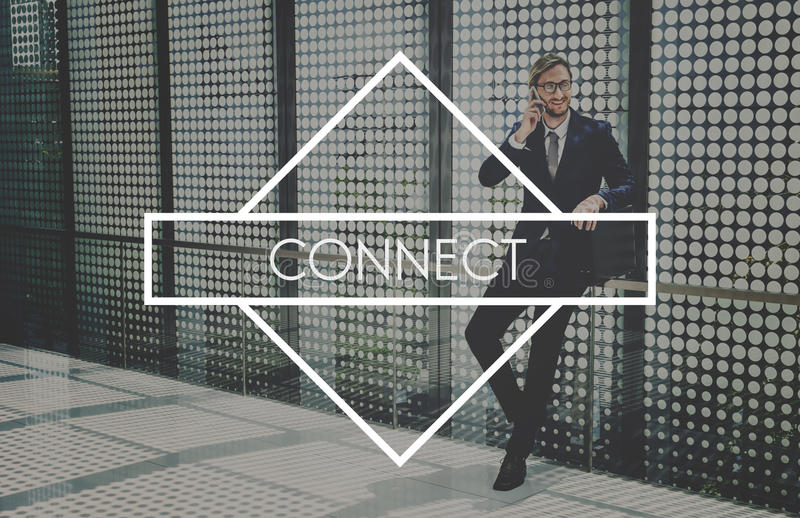 Connect Network Integrated Online Web Concept stock photography