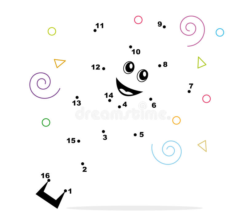 Free Connect The Dots Coloring Page Stock Photography - 15088762