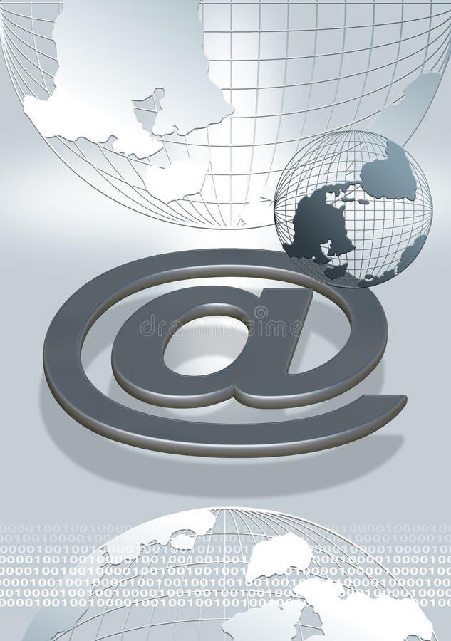 connect world stock illustration